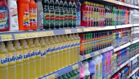 Tipos de produtos de limpeza